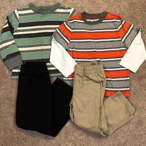 Toddler Boy 2T Long Sleeve Shirts & Pull On Pants